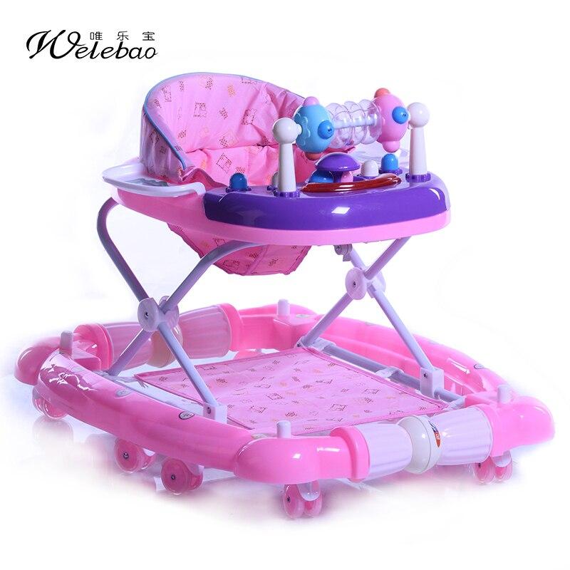 Le treasure multifunctional toddler infant child car slammed musical multifunctional folding walker