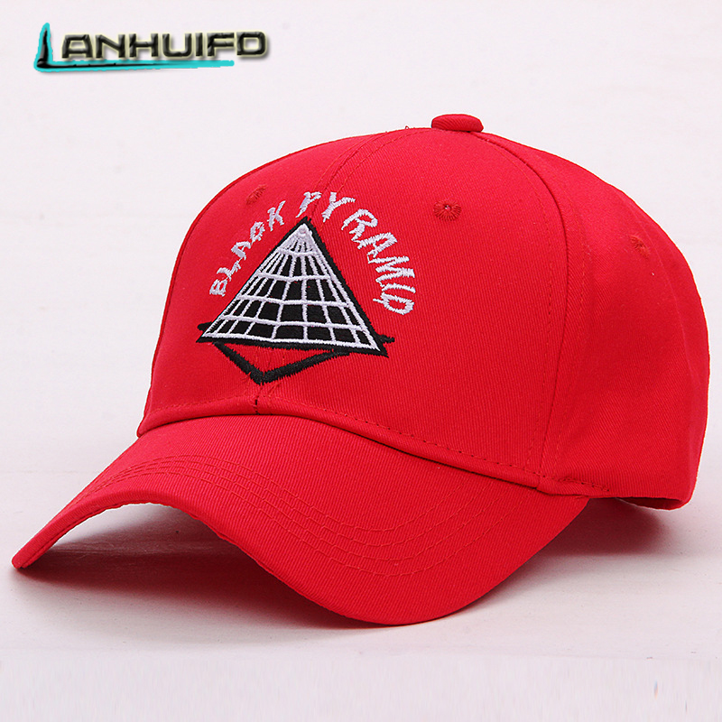 LANHUIFD New Embroidery BLACK PYRAMID   Cap   Dad Hat bone feminino Hip Hop Women's   cap   gorras para hombre   Baseball     Cap   Man Letter