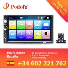 "Podofo Autoradio 2 din Auto Radio Multimedia Video Player 7 ""Stereo Auto Bluetooth MP5 2Din Touch Screen Display Digitale USB SD FM"