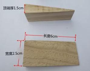 木製ウェッジ triangl 斜め木片斜めブロックコルク台形木材抵抗  グループ上の オフィス用品 & 学用品 からの 絵画キャンバス の中 1
