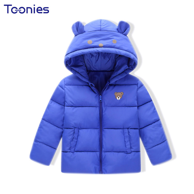 Kids Coat 2017 Winter Children Down Coats Baby Girls Boys Thick Jackets Solid Warm Jacket Cute Cartoon Printed Hooded Clothes cartoon boys girls winter down coat kids long sleeve hooded jackets children thick warm outwear clothes parkas for girls yb234