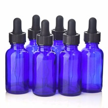 Pack of 6 30ml(1Oz) cobalt blue glass bottles with glass eye droppers perfect for essential oils boston round style glass bottle 24 x 5ml cobalt blue glass bottles vials containers with euro dropper black tamper evident cap for essential oils aromatherapy
