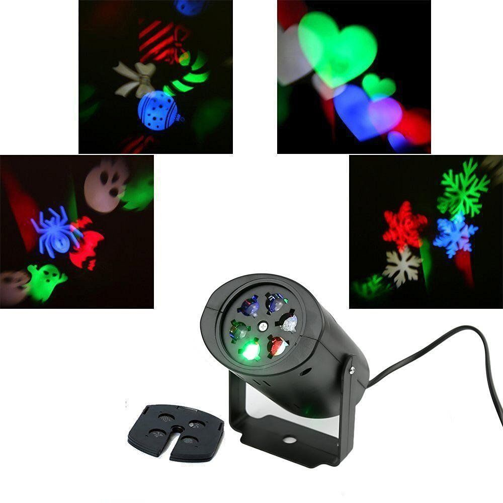 2Pc Laser Projector LED Stage Light Heart Snow Spider Bowknot Bat Christmas Party Landscape Light Garden Lamp Outdoor Light
