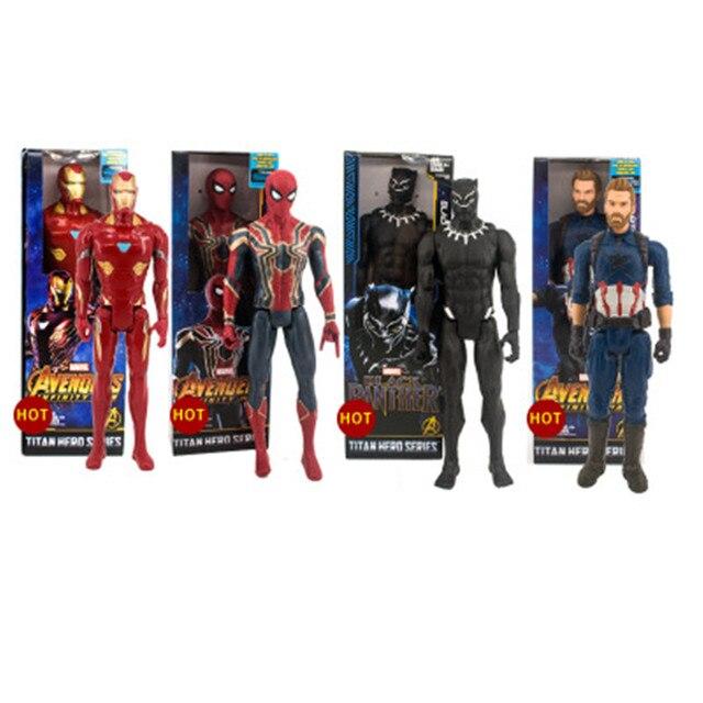 Os Vingadores Ferro Guerra Infinito Figura Aranha Spiderman Homem De Ferro Figura de Ação brinquedo Pantera Negra