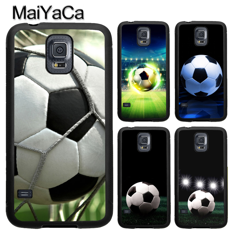 MaiYaCa football soccer ball design TPU Phone Case For Samsung Galaxy S4 S5 S6 S7 edge S8 S9 Plus Note 8 5 4 Full Back Cover