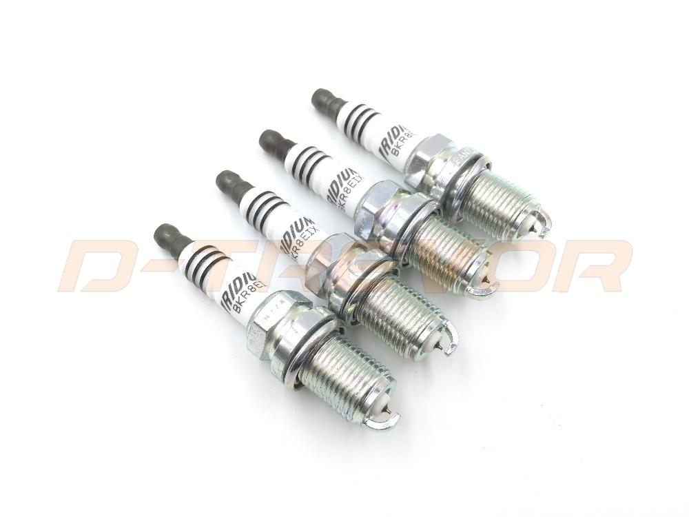 Iridium IX Spark Plugs BKR8EIX Colder Heat Range 8 for Ford Jaguar Lotus Porsche Rover Saab