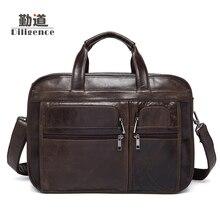 Männer Echte Rindsleder Handtaschen Kupplung Riemen Schultertasche Mode Aktentasche Vintage Messenger Bags Hochwertigen Totes