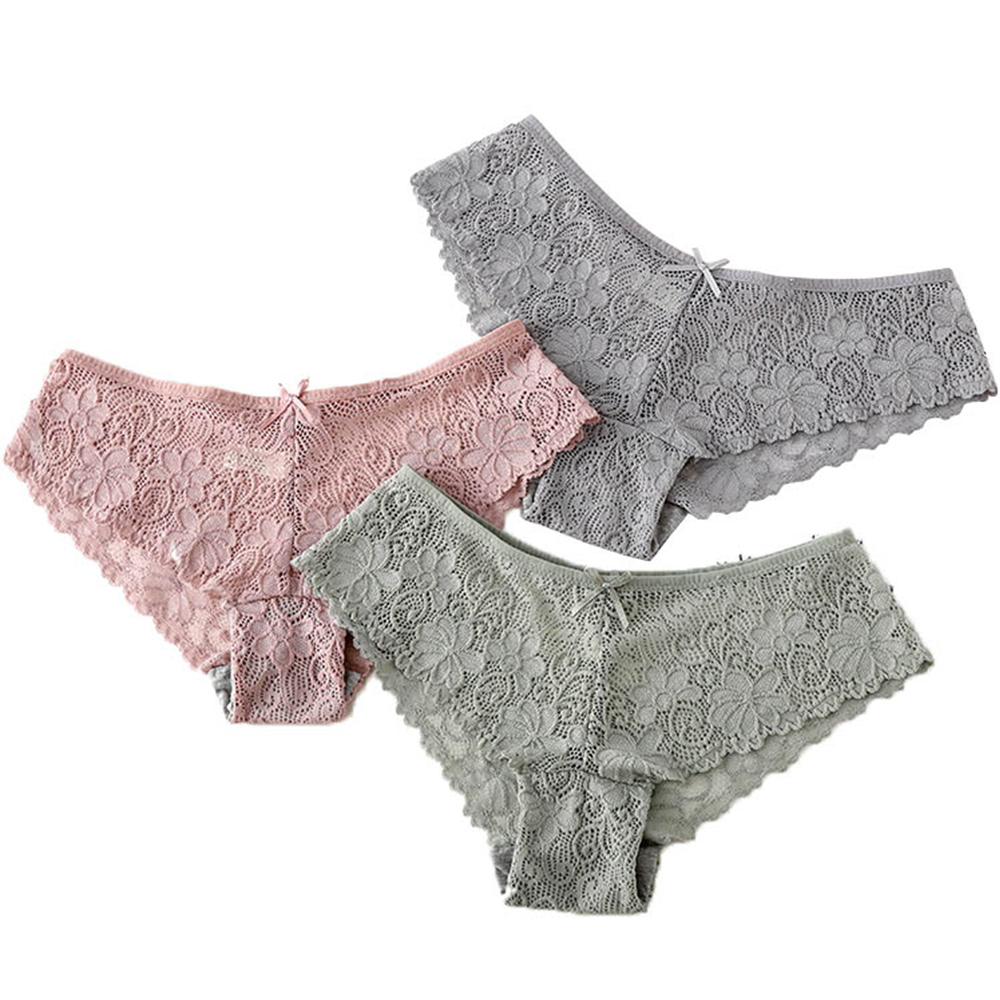 Women Sexy Lace   Panties   Culotte Femme Cotton Modis Tangas Low-rise Seamless Female Underpanties