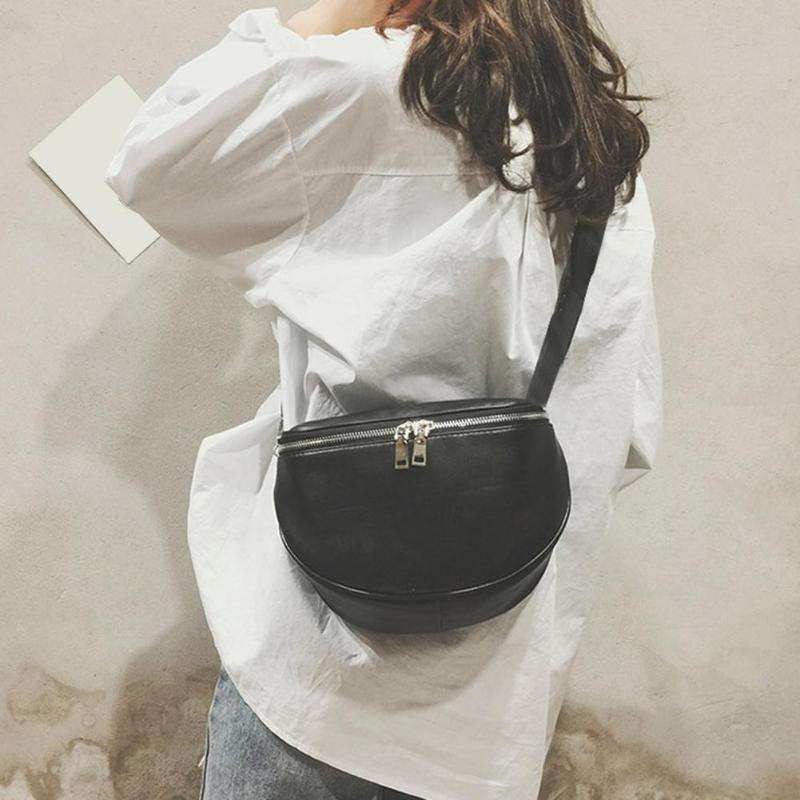 Solid Color Shoulder Messenger Handbags Casual Women PU Leather Large Capacity Crossbody Chest Bags 2019 Hot Selling