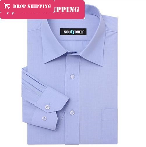9 Colors Top Quality Mens Blends Cotton Non-iron Long Sleeve Business Dress Shirt , Men;s Big Size Xs-8xl Shirt, G5d2