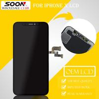 SOON Original For iPhone X LCD Display OEM 3D Touch Screen Black Screen Digitizer Assembly Top Phone Replace Spare Parts