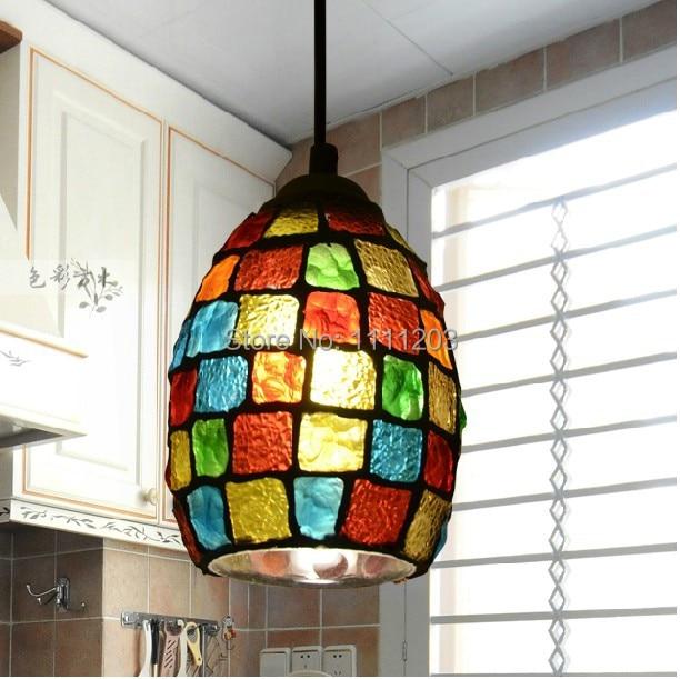 European Tiffany Lamps Pastoral Mosaic Chandelier Veranda