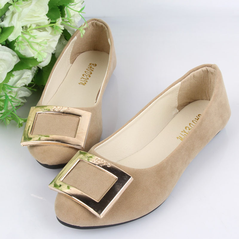 Spring Autumn Fashion Women Shoes Pointed Toe Slip-On Flat Shoes Woman Comfortable Single Casual Flats Size 35-42 zapatos mujer spring autumn solid metal decoration flats shoes fashion women flock pointed toe buckle strap ballet flats size 35 40 k257
