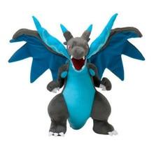 9.5inch Mega Charizard X Plush Toy Mega Evolution X&Y Charizard Soft Stuffed Plush Doll Cartoon Gift For Kids Free Shipping