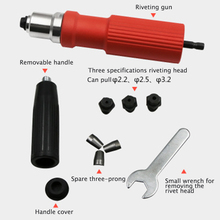 New Electric Rivet Nut Gun Riveting Tool Cordless Riveting Drill Adaptor Insert Nut Tool Riveting Drill Adapter 2.4mm-4.8mm