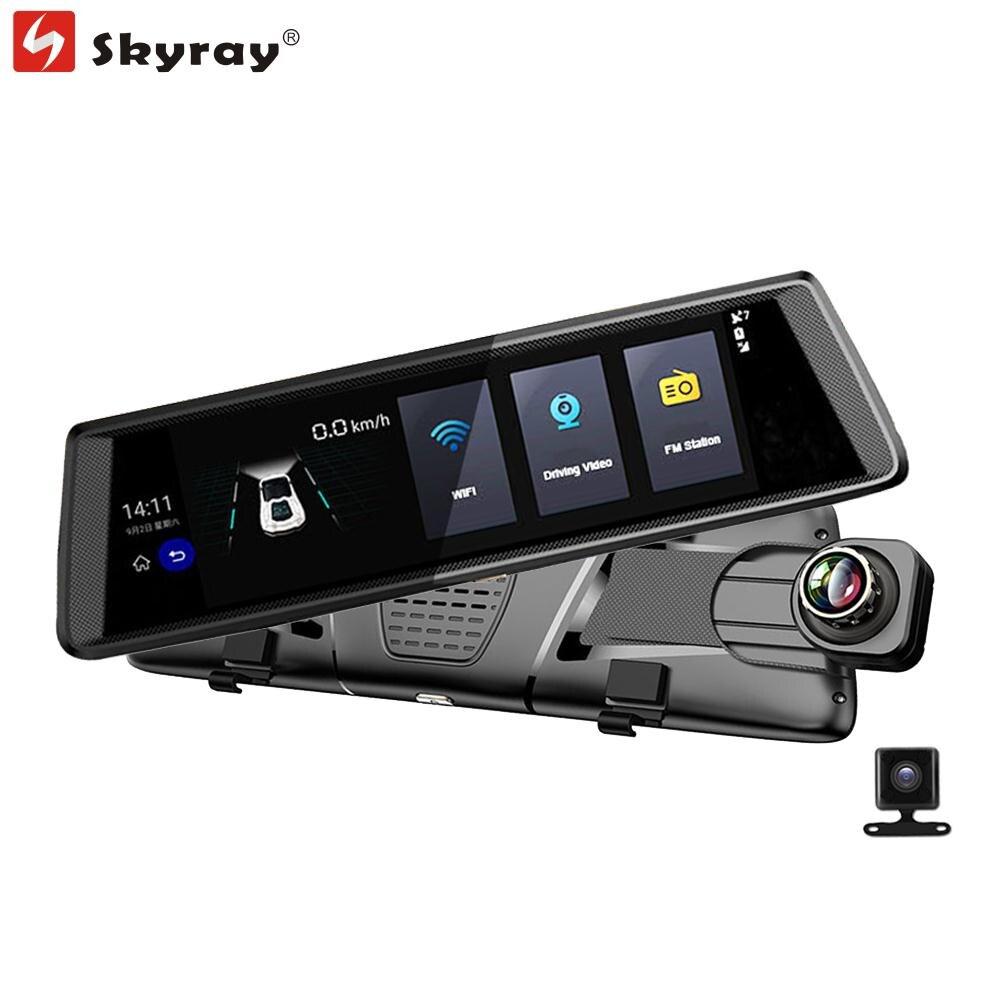 10 ультра большой Сенсорный экран зеркало регистраторы 3G GPS навигации FHD 1080 P Видеорегистраторы для автомобилей Bluetooth WI FI Android 5.0 видеокамера 2