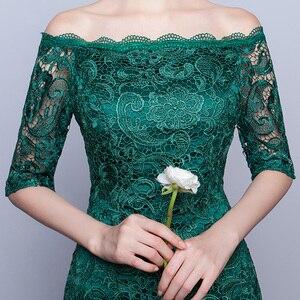 Image 4 - DongCMY Новинка 2020 короткое Модное Элегантное кружевное платье зеленого цвета с рукавами средней длины вечерние коктейльные платья