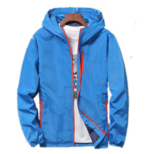 zozowang New mens windbreaker coat male youth plus fertilizer size man hooded jacket 2XL-8XL