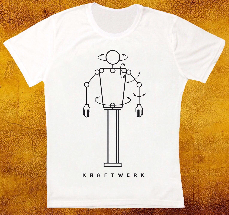 Gildan KRAFTWERK ROBOT ELECTRONIC SYNTH POP RETRO VINTAGE HIPSTER UNISEX T SHIRT 869