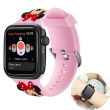 Cute Mickey sport strap for apple watch band 44mm&for apple watch 3 band 38mm bracelet for apple watch 40mm for iwatch 2 1 42mm marc saltzman apple watch for dummies
