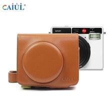 Caiul leica leica, емкость искусственная кожа сумка для фотокамеры с ремнями мгновенное плечо мешки камеры