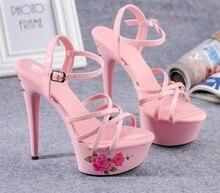 Crisscross platform sandals cut out hollow stiletto shoes round toe ankle buckle sweet pink pure white sexy red cool black shoes black cutout crisscross side zipper sandals