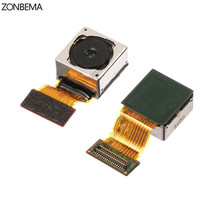 ZONBEMA 100% Test Werken Originele Voor Sony Xperia Z4 Z3 + Dual Z3 Plus E6553 E6533 Achter Hoofd Back Camera Vervanging onderdelen