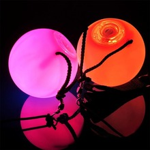 WITUSE 1/2/4 шт. Профессиональный танец живота уровень ручной реквизит светодиодный POI Мячи Водонепроницаемый