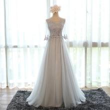 Free Shipping Evening dress long annual party dress bridesmaid dresses grey dress