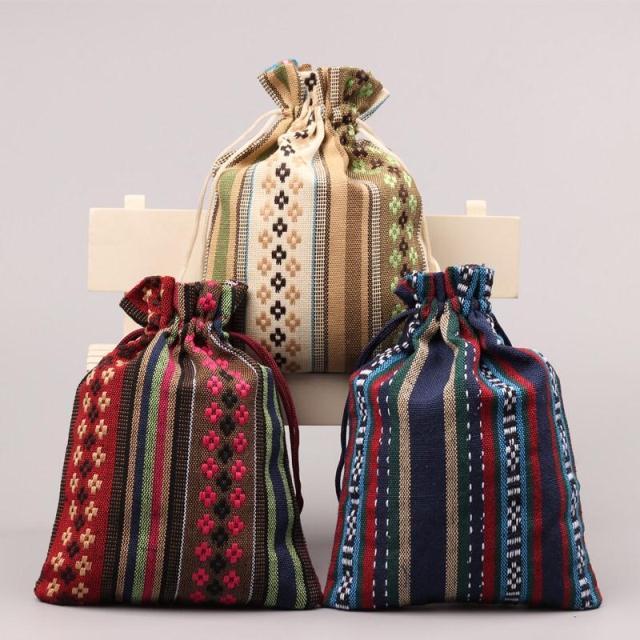 2018 новое качество национальный тренд tote аксессуары упаковка мешок для хранения ювелирных изделий организовать сумки мешочек шнурком мешок...