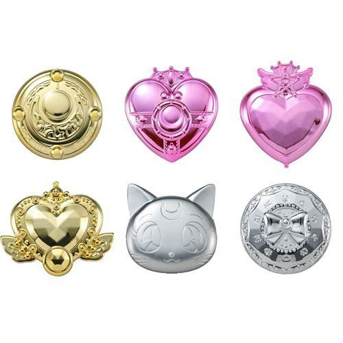 New Bishoujo Senshi Sailor Moon Compact Make Up Beauty Mirror 2 Gashapon Figure Set 100% Original sailor moon capsule communication instrument machine accessory gashapon figure anime toy full set 100