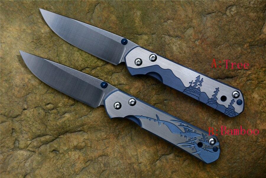 D2 lame de couteau à plier 2 poignées en titane CR petit Sebenza 21 couteau de poche couteau de chasse de survie coffret cadeau tactique