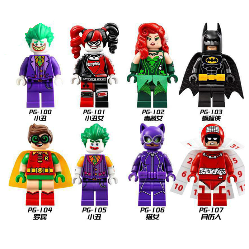 Batman Movie Set Super Heroes DIY Blocks Joker Harley Quinn Robin Figure Building Block Toy Compatible with LegoINGS Batman Toys loz mini blocks batman robin ironman thor loki harley quinn poison mini super hero bricks diy building blocks toys gift