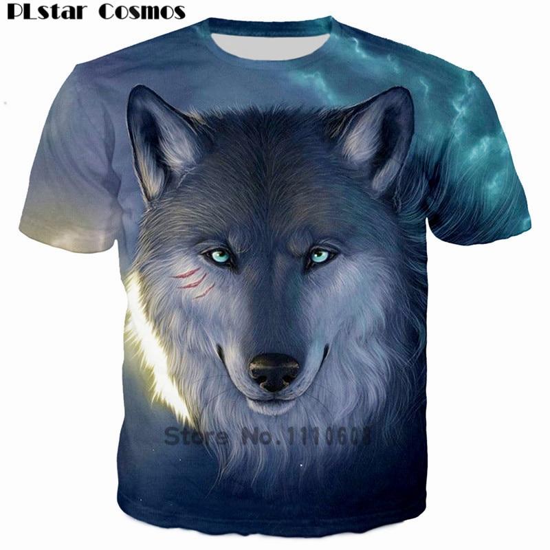 PLstar Cosmos 2018 3D print T shirt Men Animal Fierce Wolf Monkey Costume Wolves tshirt Mans t-shirt tops tees homme Camisetas