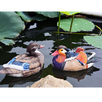 Simulation Animal Mandarin Duck Statue Colophony Crafts Outdoor Pool Decoration G1054