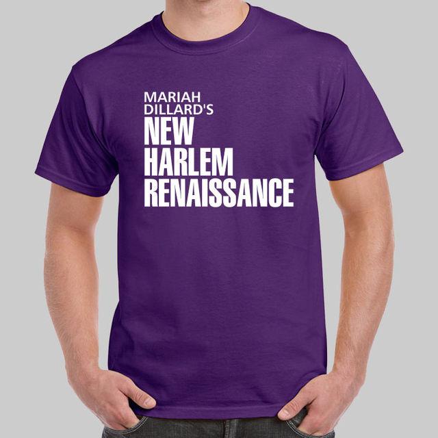 99b723320cb Mariah Dillard New Harlem Renaissance Luke Cage Purple T-shirt USA Size  Cool Short Sleeve Men T Shirt Letter Printing