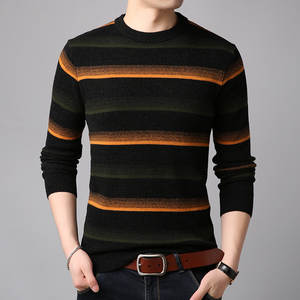 Striped Sweater Turtleneck Autumn Men's Fashion To Season-Product Closest Leisure Render