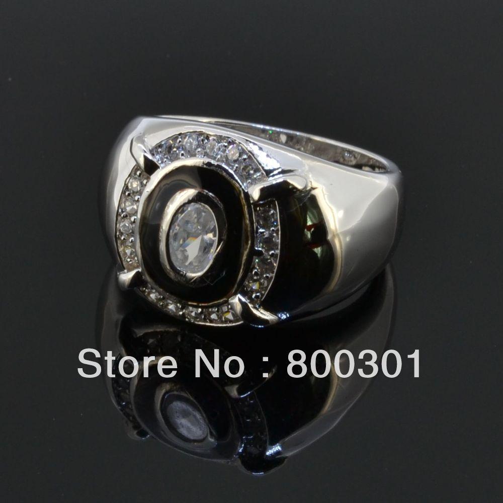 Горячие Дешевые Винтаж ювелирных изделий Черный квадрат камень кольцо для Для женщин/Для мужчин старинное серебро покрытием Crystal Рождественский подарок