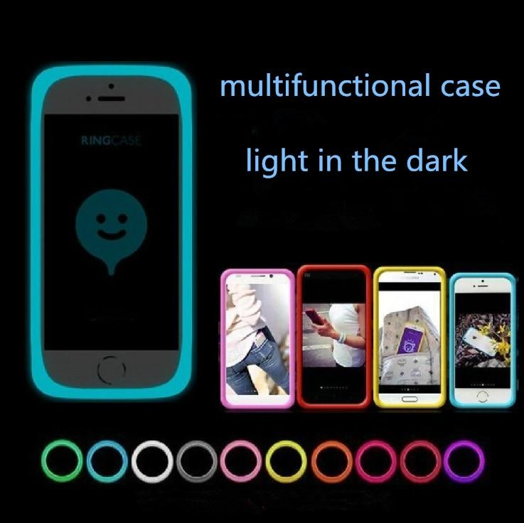 new fashion multi functional anti knock phone case for Elephone Vowney silicone stretchy luminous shine ring