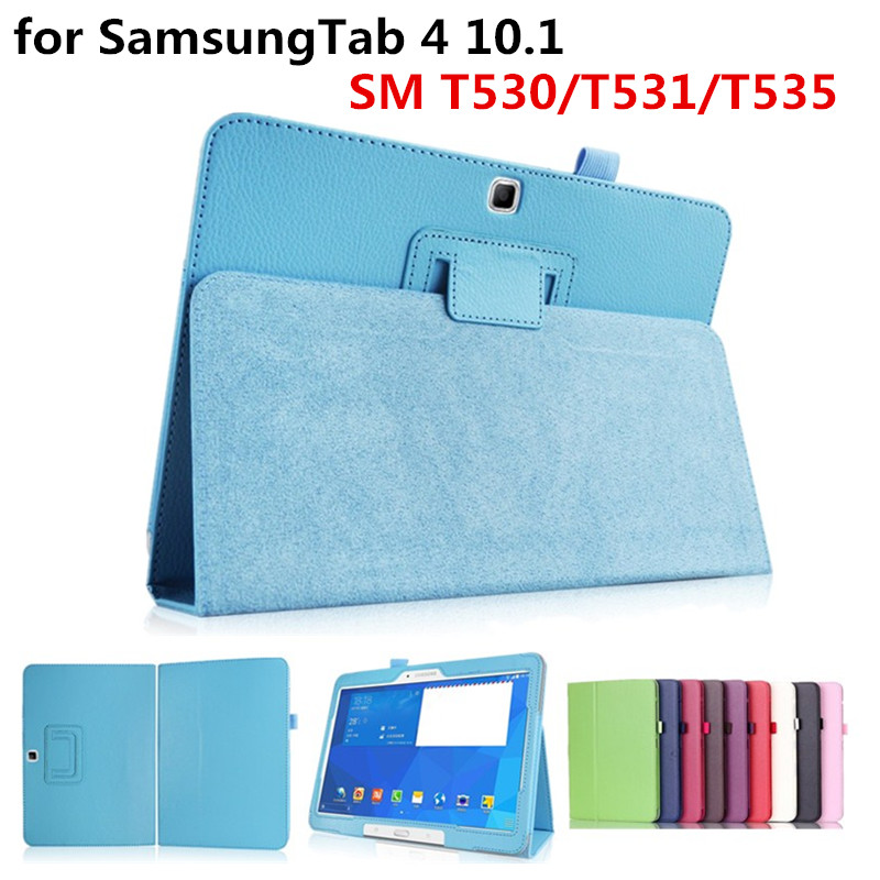 Case Cover For Samsung Galaxy Tab 4 10.1 SM T530/T531/T535 Ultra Thin Pu Leather Stand Protector Tablet Case Cover Free Shipping