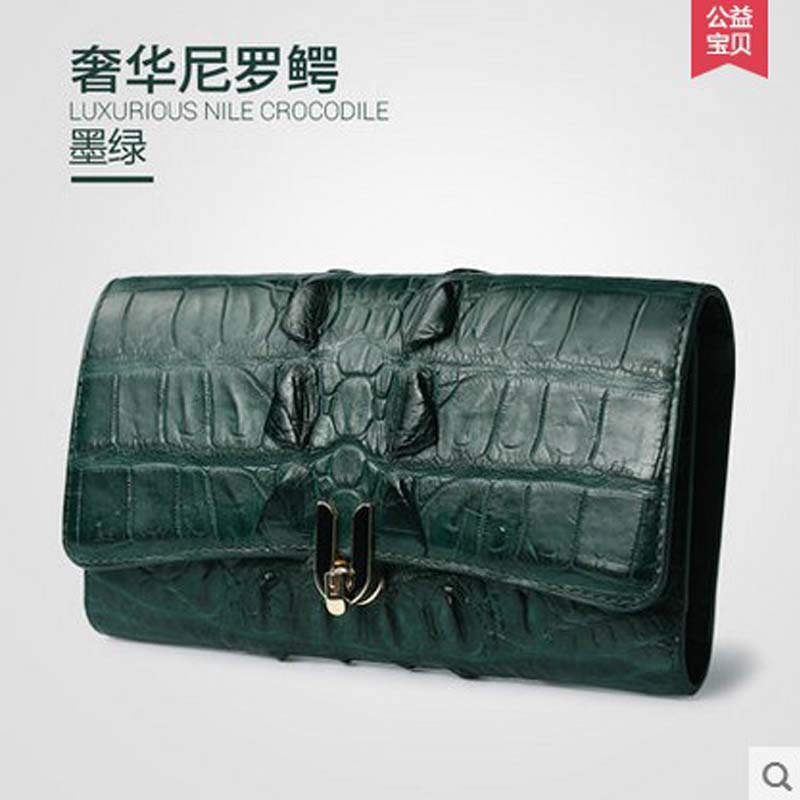 gete new crocodile women handbag high-capacity long purse Dinner bag leather hand bag Ms handbag gete new python leather women handbag lady real snake dinner women purse large capacity grab bag girl women cluth bag wallet
