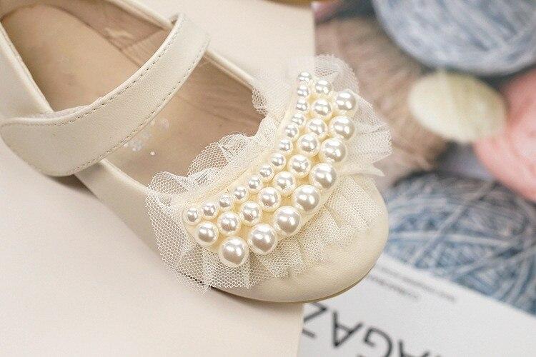 Meninas novas sapatos de couro festa sapatos