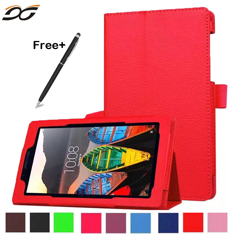 For Lenovo Tab3 7 Essential 710F 710I Litchi PU Leather Cover For Lenovo 7.0 inch Tablet Tab 3 710I Slim Protective Case new 7 inch for lenovo tab 3 essential 710f tab3 tb3 710f tab3 710f touch screen digitizer lcd display sensor replacement