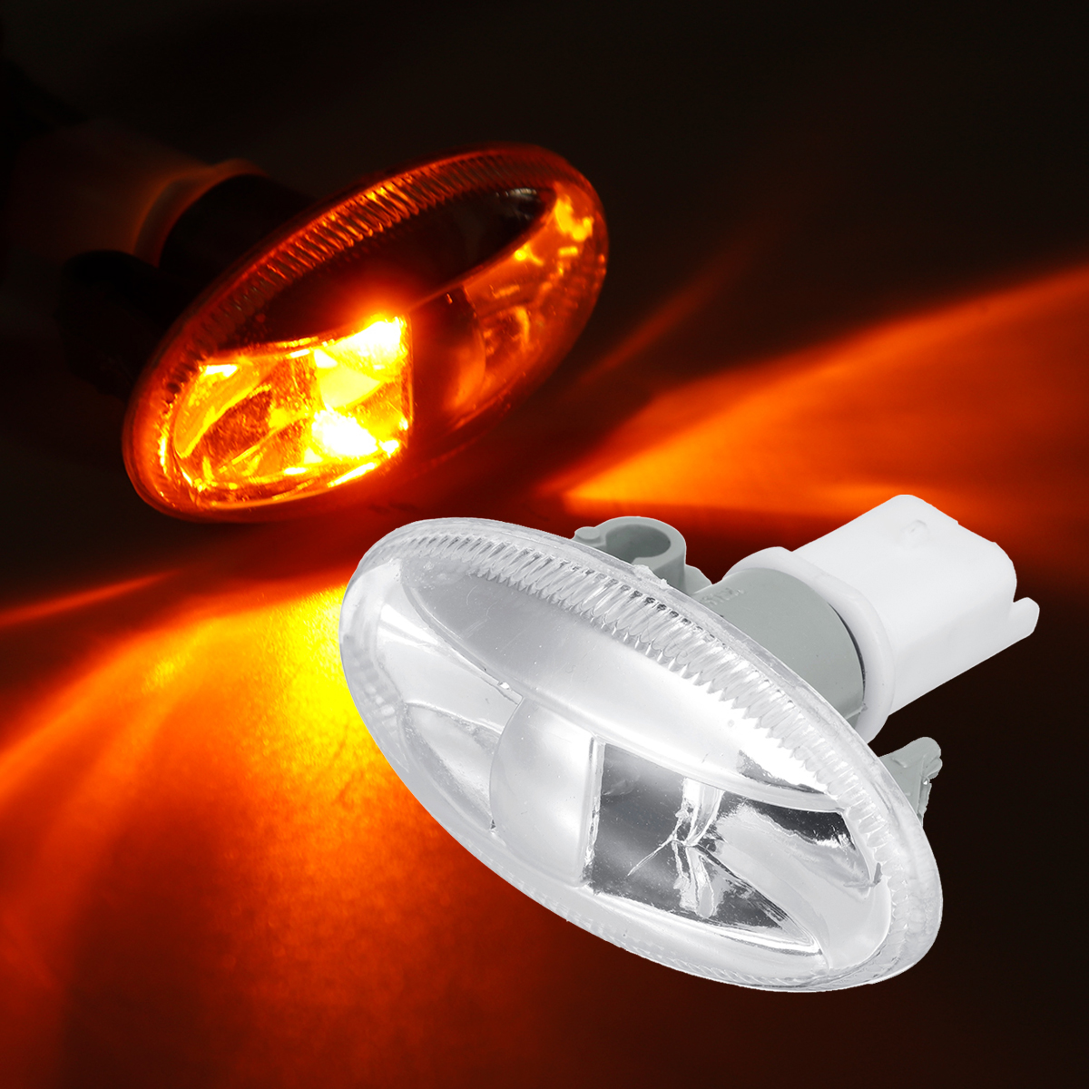 Car Auto Turn Signal Indicator Partner Side Marker Light Lamp For Peugeot 108 107 407 206 1007 Amber
