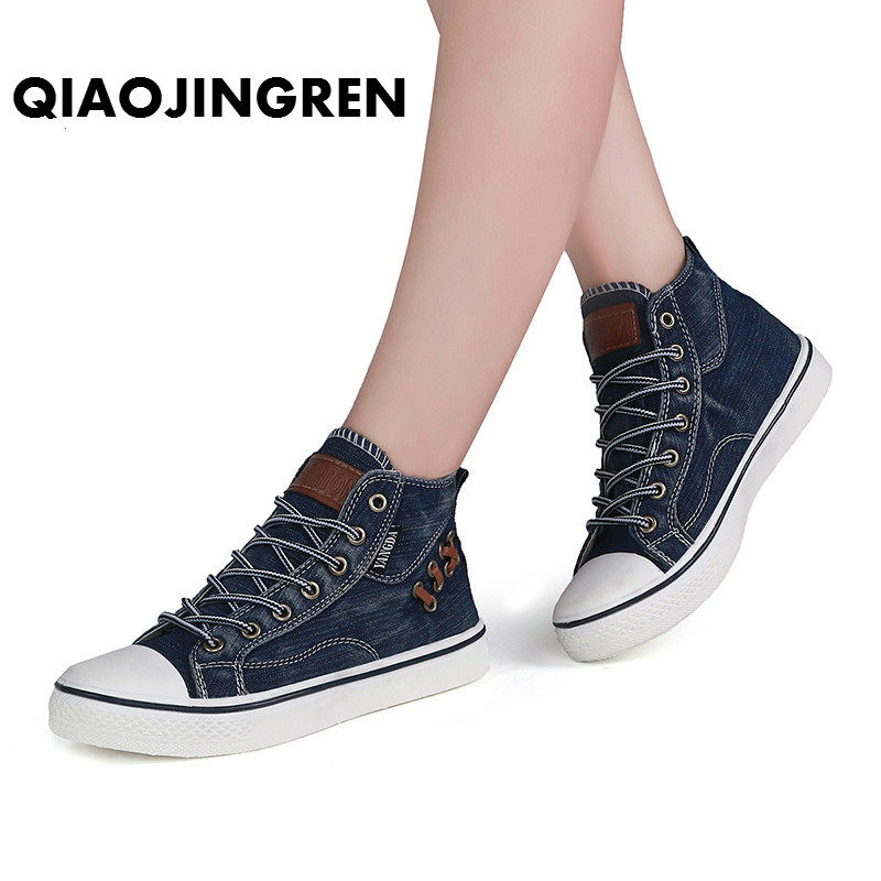 Magasin All Match en High Femme Canvas Shoes ligne Vintage Denim qTwBraq