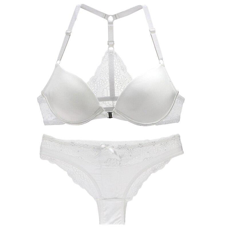 New Brand 2018 Elegant Women Bra Set Seamless Push Up Womens Underwear Front Closure Y-line Brassiere Sexy Lingerie ABC Bras