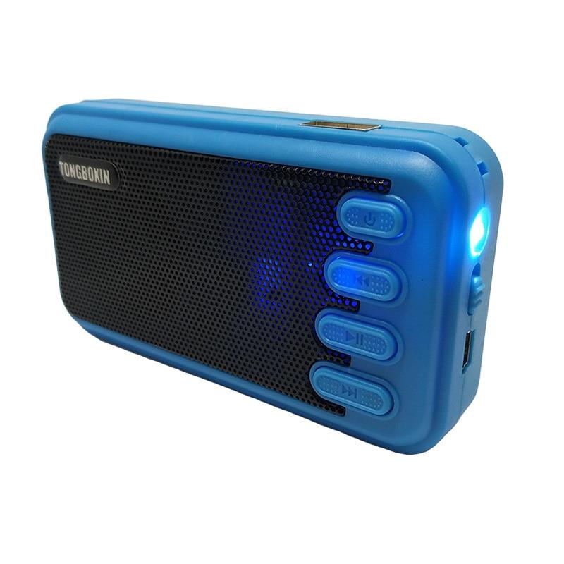 LED taskulamp Mini kaasaskantav USB TF kõlar MP3 muusikamängija Sisseehitatud laetav aku väljas kõlarid