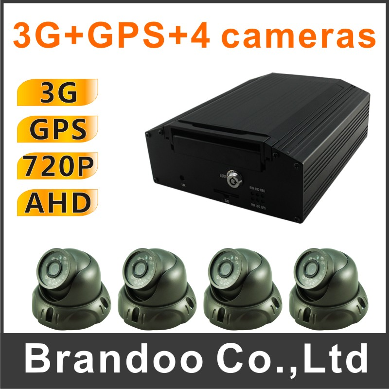 2 kit sale, 4CH 720P DVR+3g+gps+4PCS AHD CAR IR camera kit, for bus,shuttle bus,school bus used