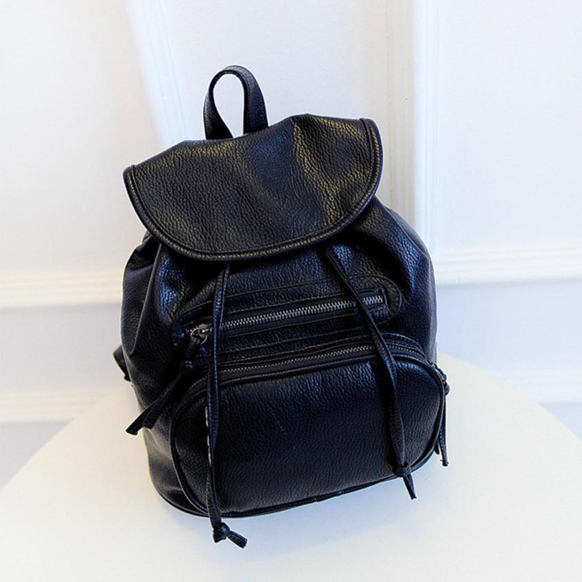 Sac a dos Women Backpacks Women's PU Leather Girl School Bag Ladies Bags Designer Backpack Bolsas