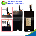 Para meizu m3 note m681h m681q l681h 5.5 polegada lcd Display + Touch Screen Digitador Assembléia Substituição Meilan Nota 3 Preto branco